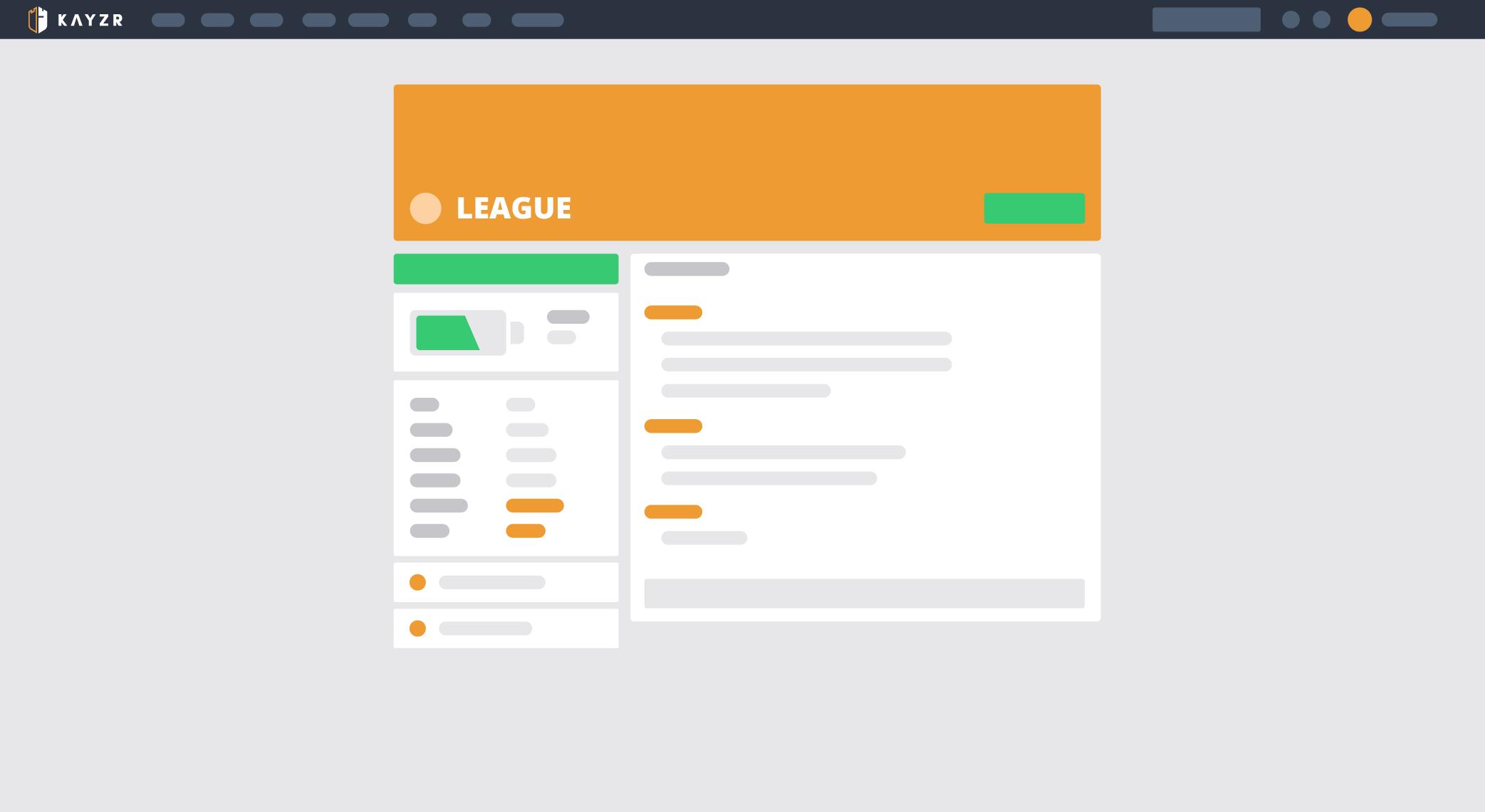 league page
