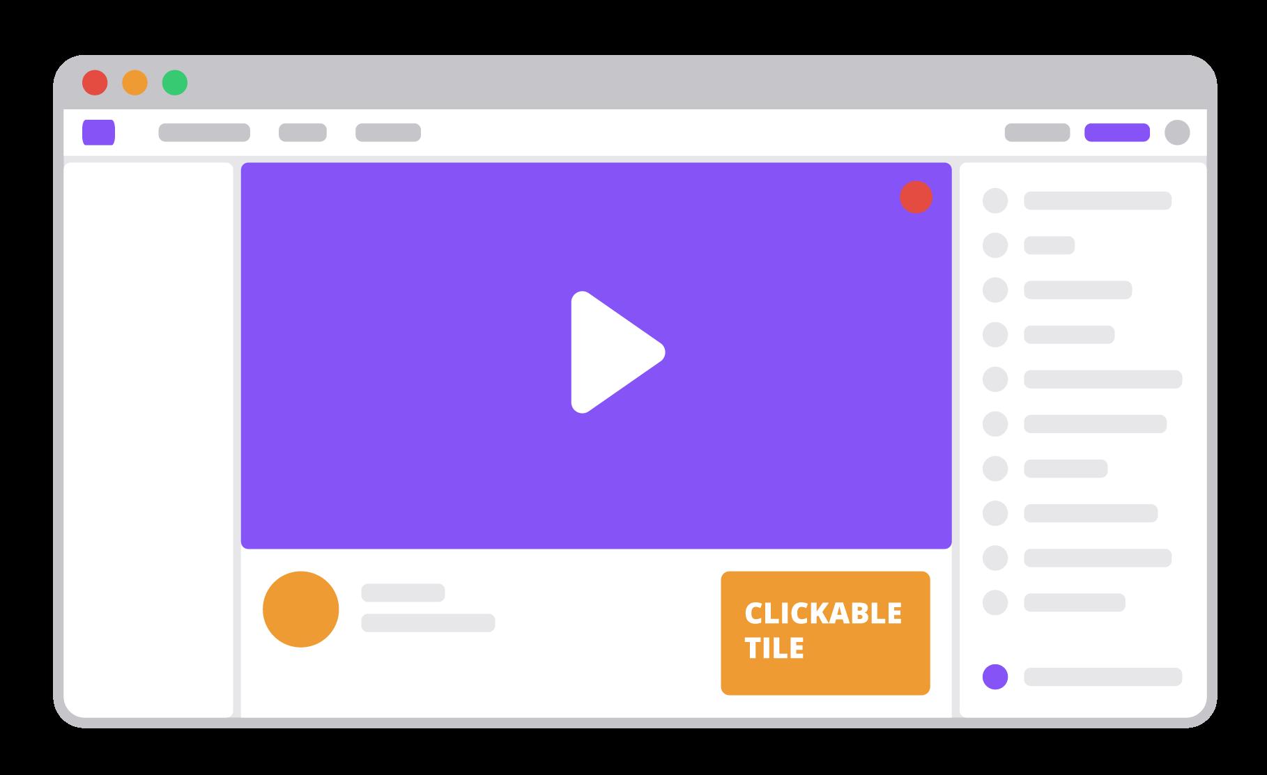 clickable tile